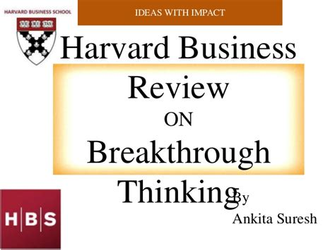 design thinking harvard business review harvard business review on breakthrough thinking