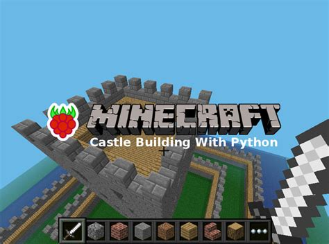 House With A Moat building a castle in minecraft with python