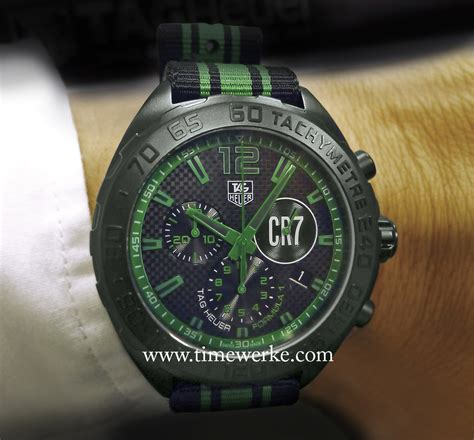 Tagheuer Cr7 Black Green tag heuer formula 1 cristiano ronaldo driven by the