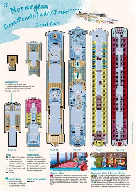 Galerry printable deck plans norwegian jewel