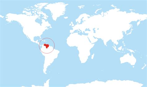 caracas on world map where is located on the world map