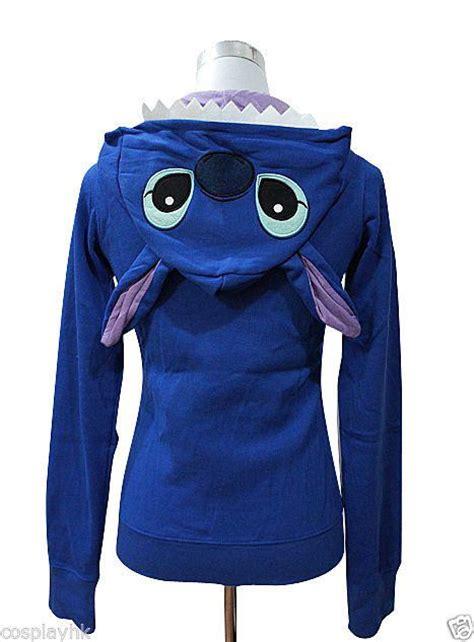 stitching hoodie details about disney stitch womens plain zip hoodie