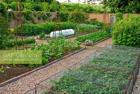 Walled Kitchen Garden With Gravel Paths Victorian Style Walled Kitchen Garden