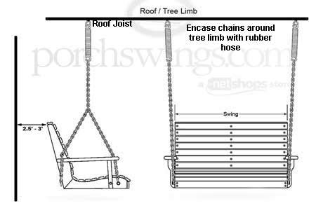 how to hang a porch swing with chain hang a porch swing porch swings