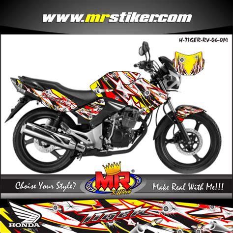 Stiker Jupiter Z 2005 Merah Hitam tiger dot splater stiker motor striping motor suka