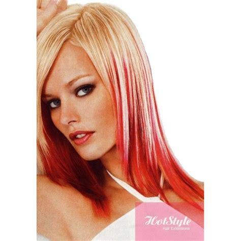 hairstyles blonde with red streaks blonde hair red streaks