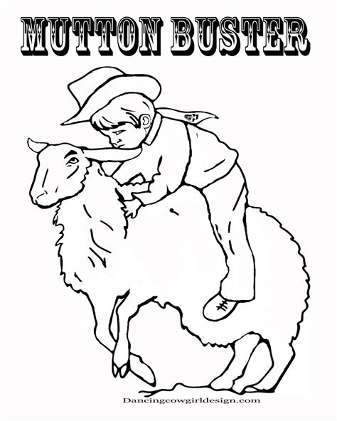 Rodeo Coloring Pages Cowboy Coloring Sheet Kid Mutton Bustin Rodeo Coloring Pages