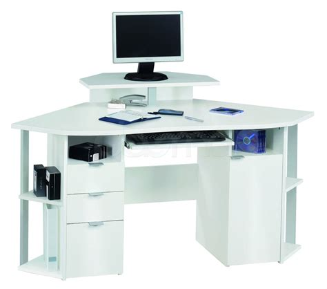 Corner Storage Desk White Corner Computer Desk For Home Office Office Architect