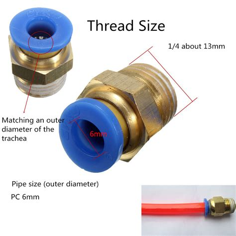 Nepel Fitting T 8 Mm X 1 4 Pt 08 02 Sac Berkualitas 4pcs 4mm one push to connect fitting connector bsp thread 1 4 quot ebay