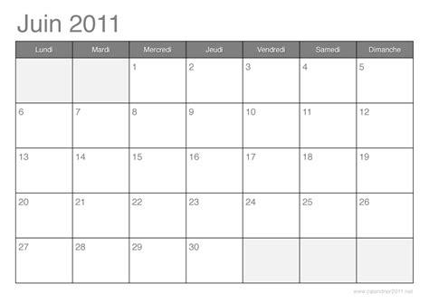 Calendrier Juin 2011 Calendrier 2011 192 Imprimer