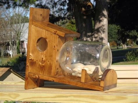 glass jar squirrel feeder woodworking projects plans