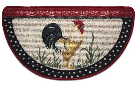 Rooster Kitchen Rugs Rooster Kitchen Rug Slice Berber Country Farm Chicken