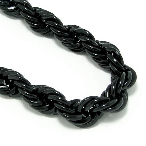 black chaign 30 quot black 10mm rope chain chains