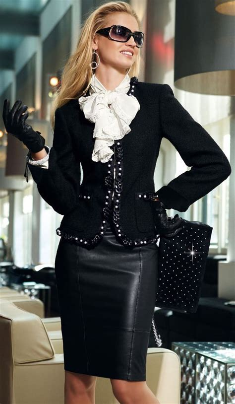 17 best ideas about black leather pencil skirt on