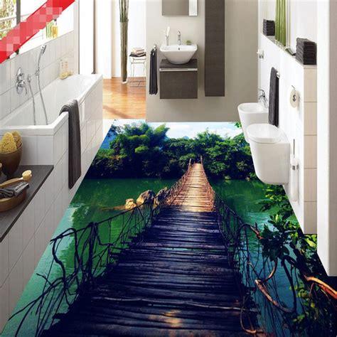 bathroom wall murals uk aliexpress com buy photo floor wallpaper hanging wooden