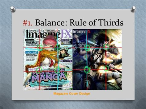 magazine layout rule of thirds design principles