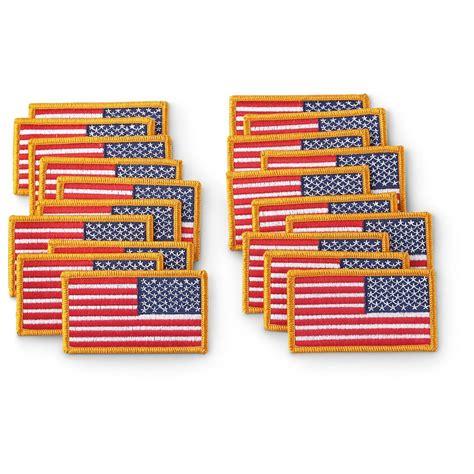 Us Patch New 20 new u s surplus u s a flag patch set right