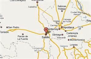 Saltillo Mexico Map by Jsj Corporation