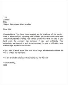 Appreciation Letter New Job Thank You Letters For Appreciation 9 Download Free