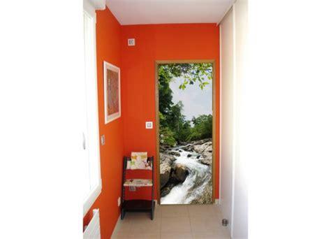Porte D Entree Vitree 2040 by Stickers Pour Porte Paysage Rivi 232 Re Tatoutex Stickers