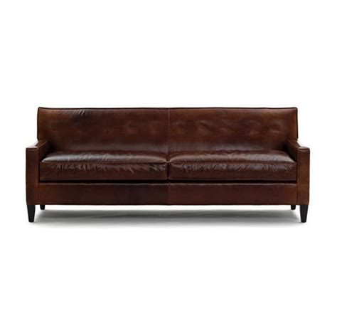 Mgbw Dexter Leather Sofa No Buttons Furniture Mitchell Gold Leather Sofa