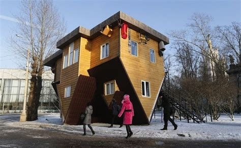houses in russia intriguing design roller coaster the shifted house in russia freshome com