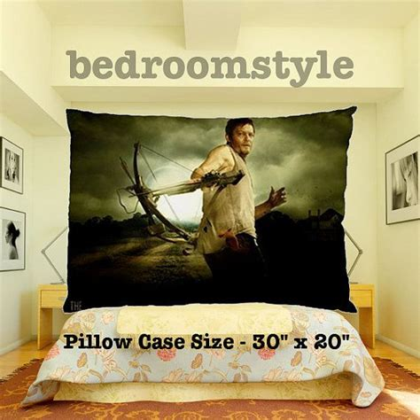 the walking dead bed set walking dead daryl dixon pillow cover bedding by