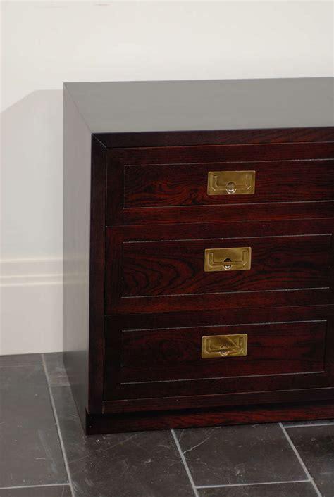 Vintage Henredon Furniture by Vintage Henredon 6 Drawer Chest In Espresso Lacquer At 1stdibs