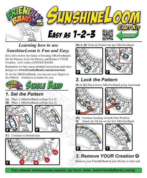 printable instructions loom bands 17 best images about rainbow loom looms on pinterest