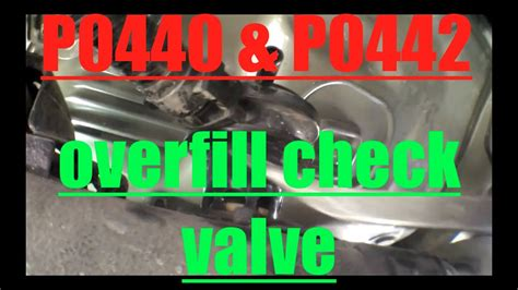p p replace overfill check valve toyota camry
