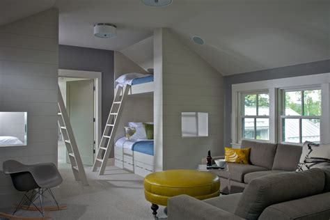 charming Bonus Room Decorating Ideas #1: Magnificent-glider-rocker-with-ottoman-in-Kids-Contemporary-with-Built-In-Beds-next-to-Twin-Over-Queen-Bunk-Bed-alongside-Queen-Over-Queen-Bunk-Bed-andBonus-Room-.jpg