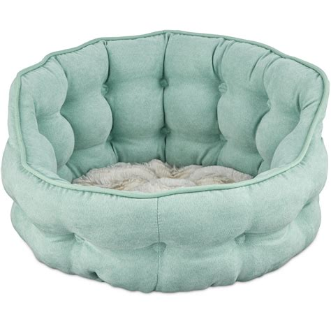 petco cat beds harmony tufted cat bed in seaglass petco