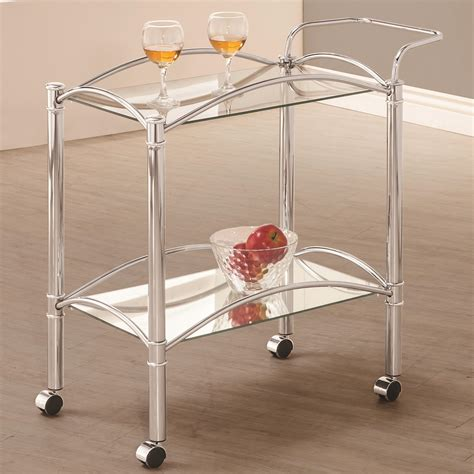 serving cart 910190 serving carts price busters coaster kitchen carts chrome serving cart with mirrored