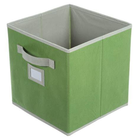 martha stewart living half width fabric drawers martha stewart living 10 1 2 in x 11 in green fabric