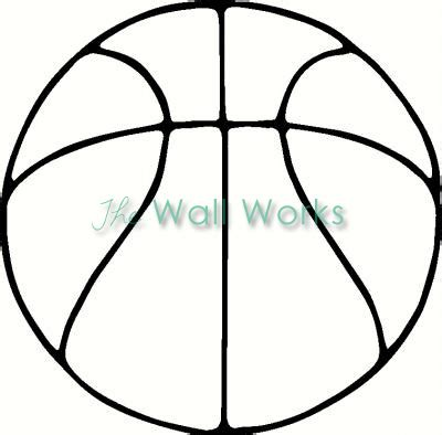 Basketball Outline Wall Sticker Vinyl Decal The Wall Works Basketball Lines Template
