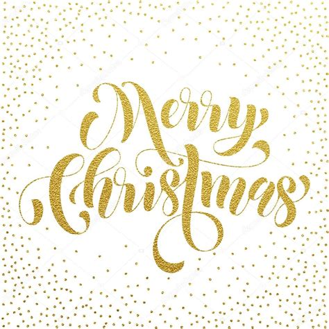 merry christmas gold glitter lettering greeting vector de stock  ronedale
