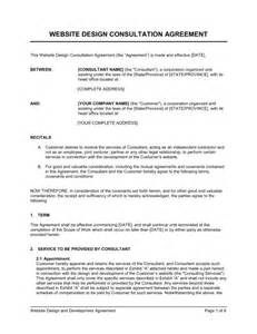 Consultation Contract Template by Website Design Consultation Agreement Template Sle