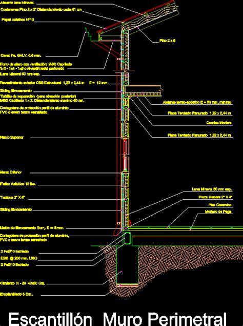 perimeter wall fixture dwg block  autocad designs cad