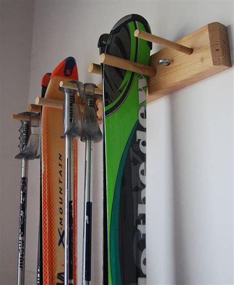 Garage Ski Storage Ideas Snow Ski Storage Rack Wall Mount 2 Skis Wall Mount