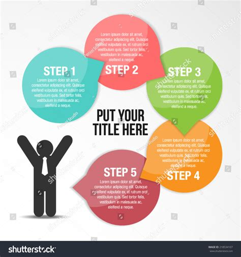 Step By Step Success Infographic Template Stock Vector 218534107 Shutterstock Step By Step Infographic Template