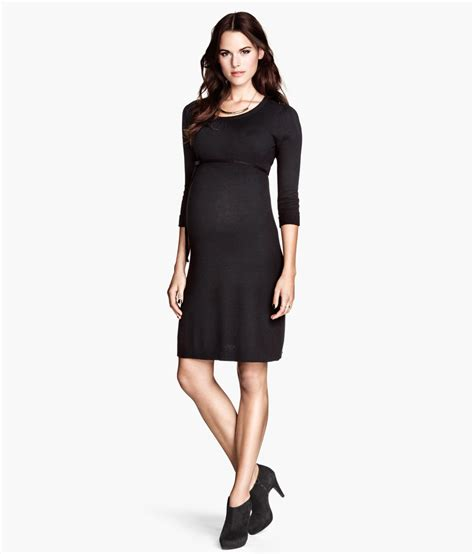 knitted dress h m h m knitted dress in black lyst