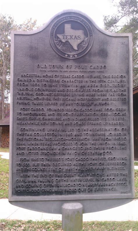 historical markers in texas map town of port caddo karnack texas historical marker flickr