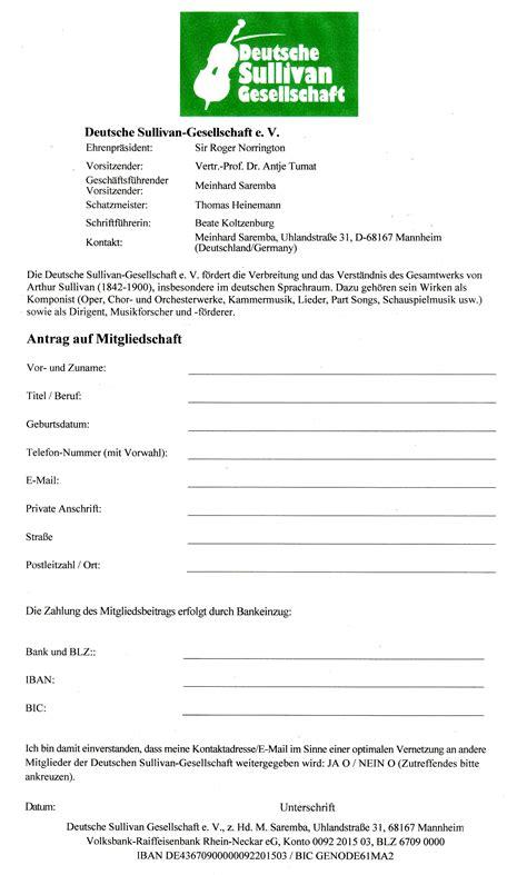 Antrag Briefwahl Mannheim deutsche sullivan gesellschaft mitgliedschaft antrag auf mitgliedschaft