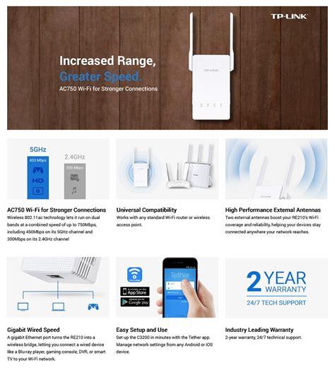 Tp Link Re210 Ac750 Dual Band Wireless Wall Plugged Range Extender tp link ac750 universal wi fi wall gigabit range