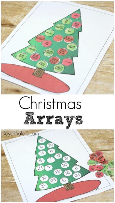 christmas tree arrays for multiplication fun royal baloo