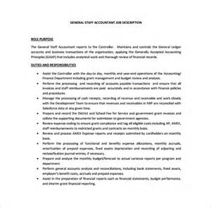 Staff Accountant Description Templates by 11 Accountant Description Templates Free Sle Exle Format Free