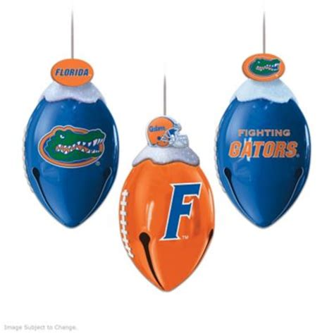 florida gators christmas ornament collection footbells