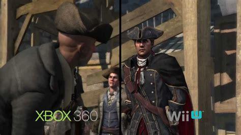 wii vs xbox 1 graphics assassin s creed 3 wii u vs xbox 360 graphics