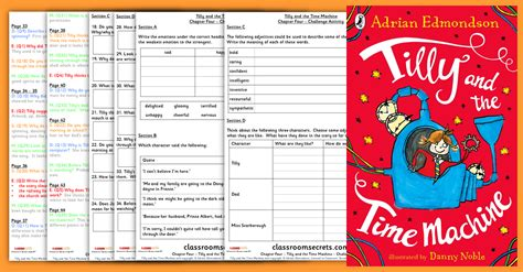 tilly and the time tilly and the time machine chapter four year 3 and year 4 whole class guided reading
