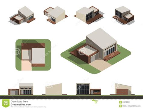 home design concepts kansas city set of flat isolated house building kit creation detailed and rural house concept design